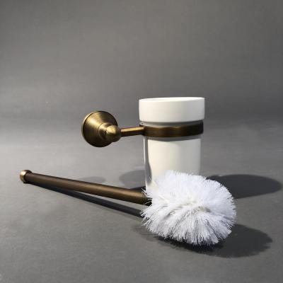 Toilet Brush Brass