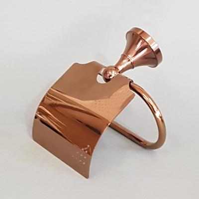 Toilet Roll Holder - Rose Gold