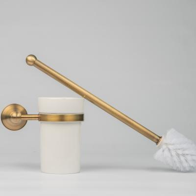 Toilet Brush & Holder Brushed Brass
